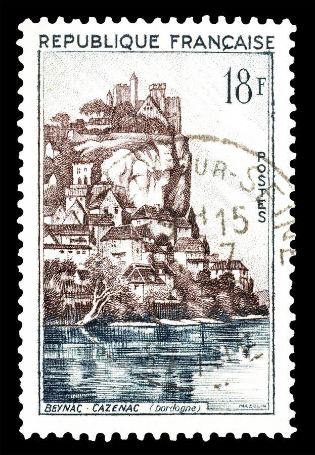 Francja na znaczkach pocztowych fotografia royalty free
