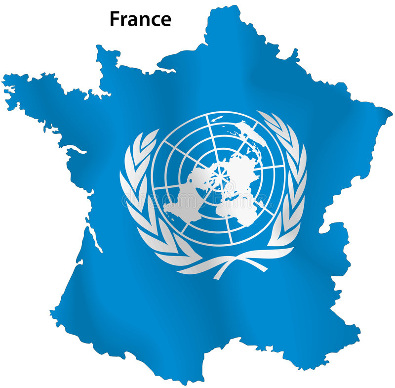 Francja Narody Zjednoczone mapa royalty ilustracja
