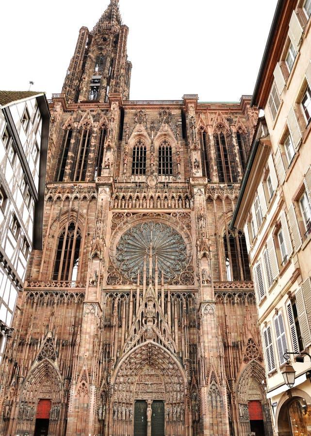 Francja Strasburg katedra obrazy royalty free