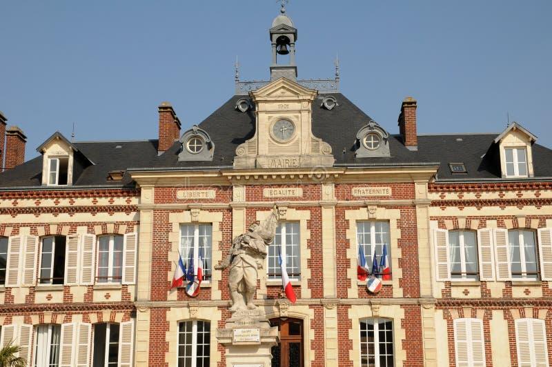 Francja urząd miasta Gasny w Eure obrazy stock