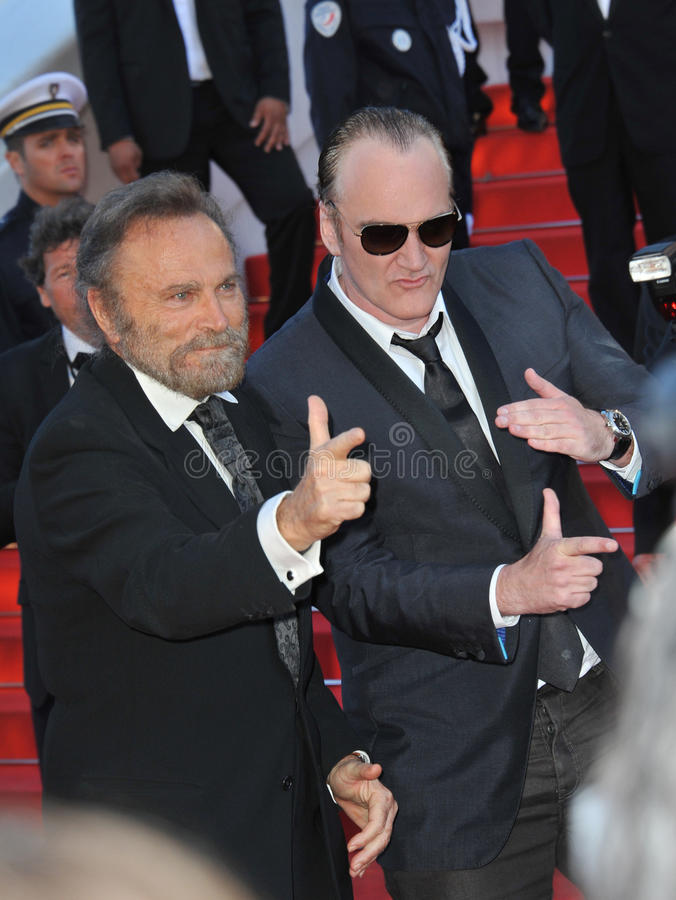 Franco Nero & Quentin Tarantino obrazy stock