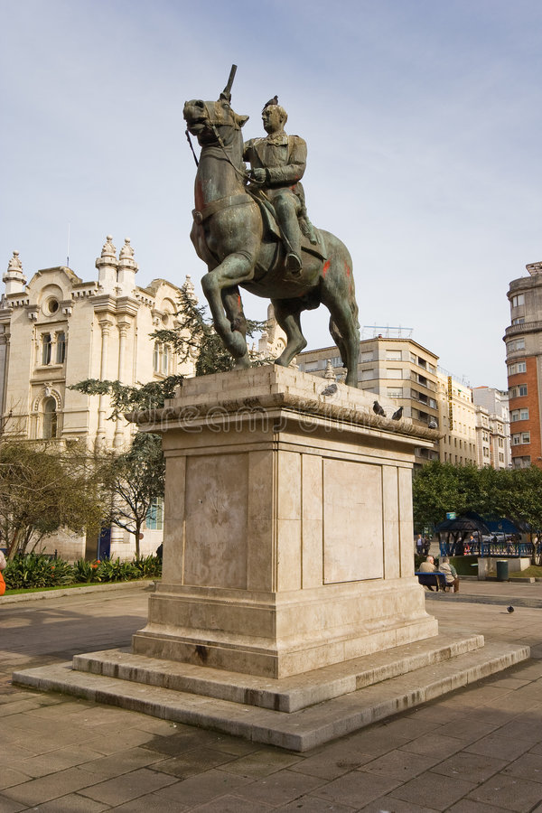 Download Franco statue , Spain stock photo. Image of civil, metal - 7740704