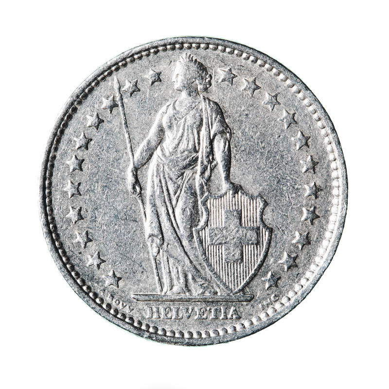 Franco suíço imagens de stock royalty free