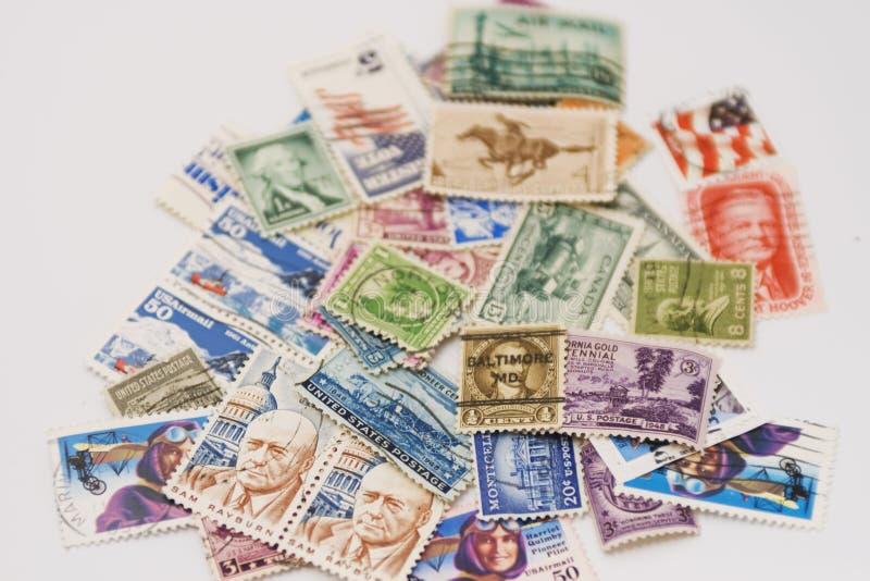 Francobolli degli S.U.A. fotografie stock libere da diritti