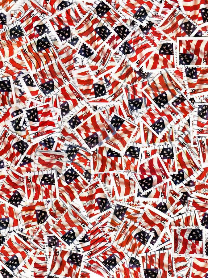 Francobolli degli S.U.A. - bandierine fotografie stock libere da diritti