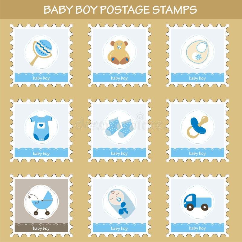 Francobolli del neonato royalty illustrazione gratis