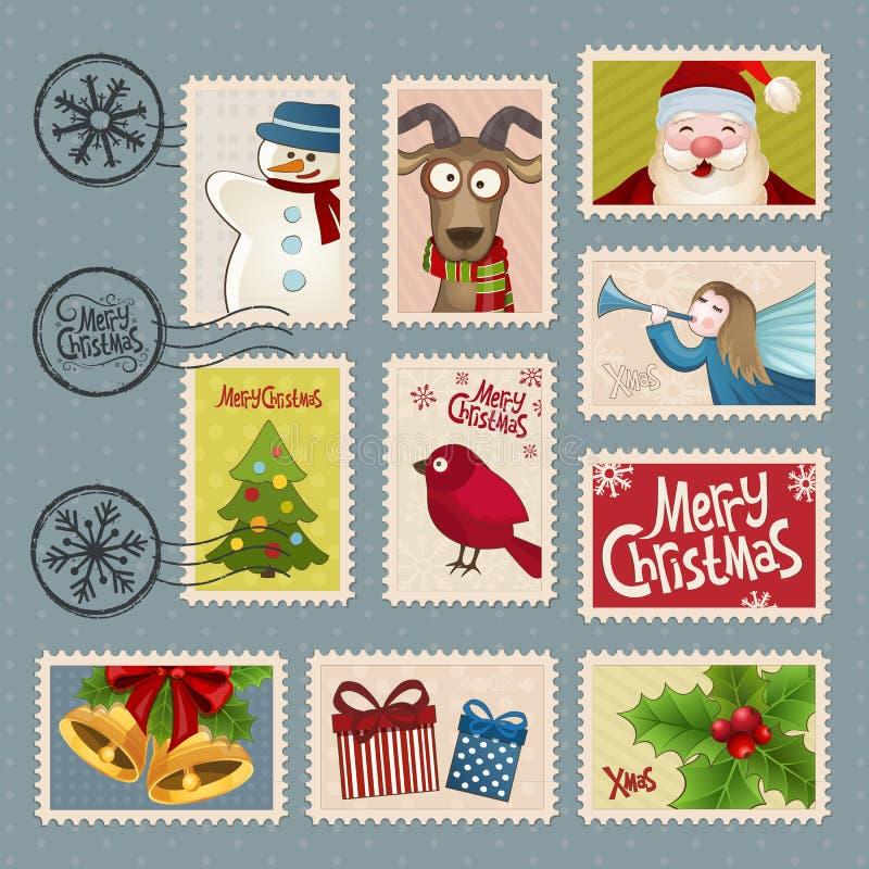 Francobolli per il Natale illustrazione di stock