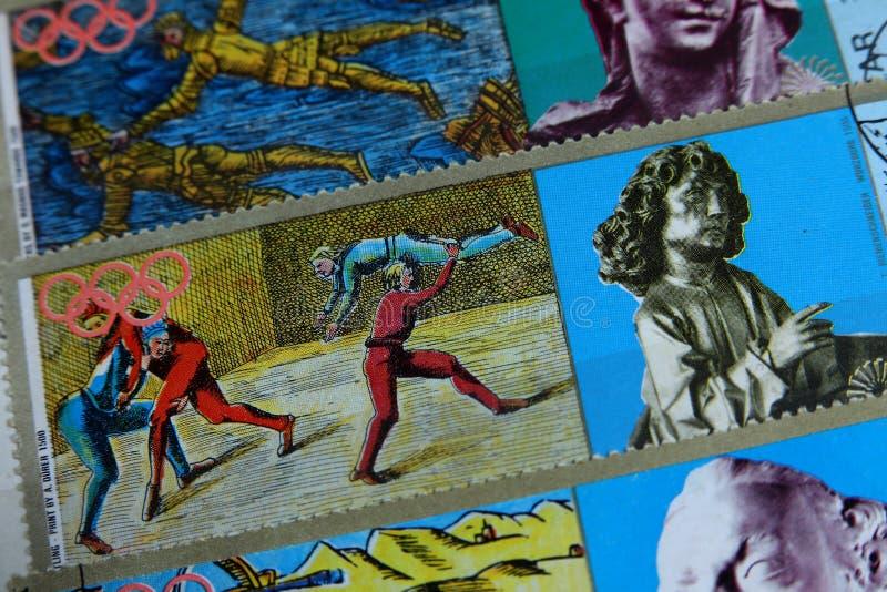 Francobolli, sport olimpici fotografie stock