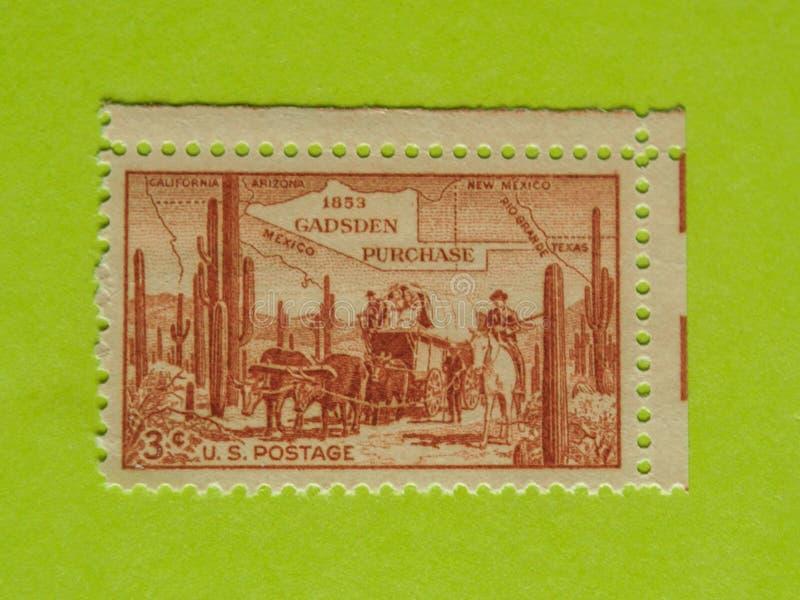 Francobollo d'annata di U.S.A. fotografie stock libere da diritti