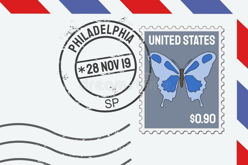 Francobollo di Filadelfia royalty illustrazione gratis