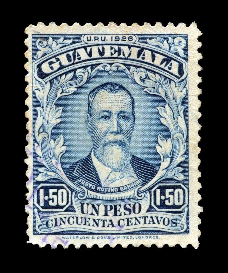 Francobollo stampato dal Guatemala fotografie stock libere da diritti