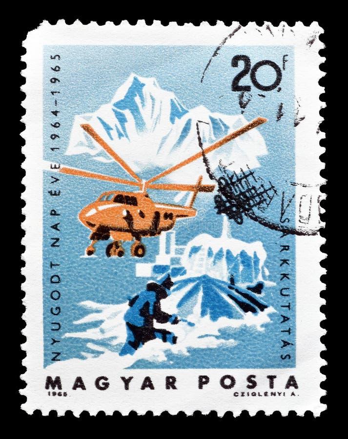 Francobollo stampato dall'Ungheria immagini stock