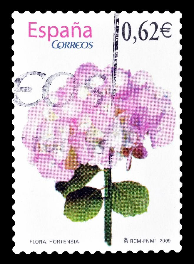francobollo stampato dalla Spagna immagine stock libera da diritti