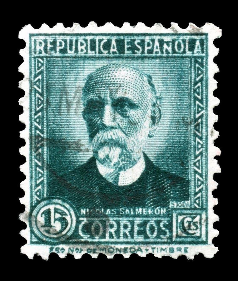 francobollo stampato dalla Spagna fotografie stock libere da diritti