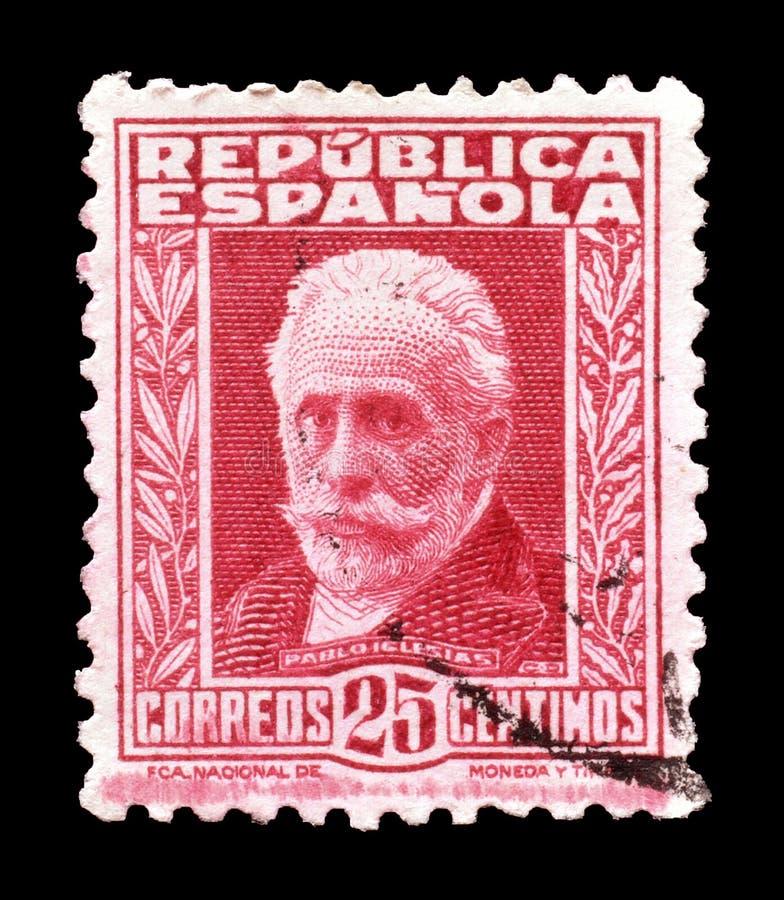 francobollo stampato dalla Spagna fotografia stock