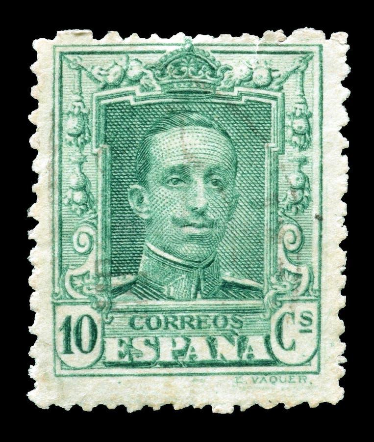 francobollo stampato dalla Spagna immagini stock libere da diritti