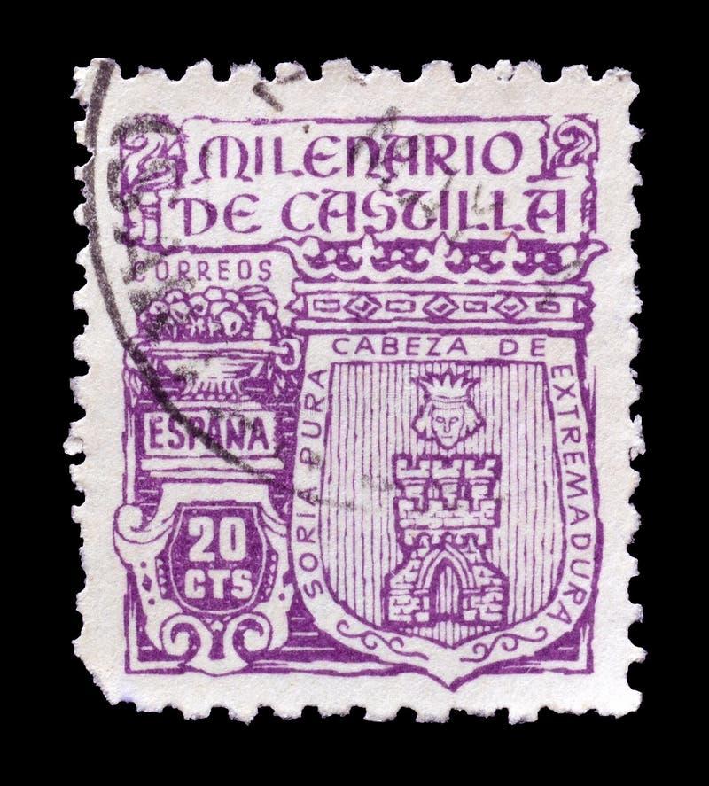 francobollo stampato dalla Spagna immagini stock