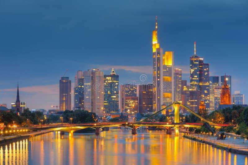 Francoforte - am - cano principal imagem de stock