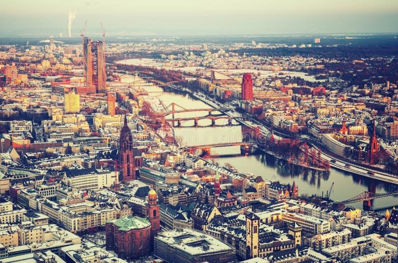 Francoforte no inverno fotos de stock royalty free