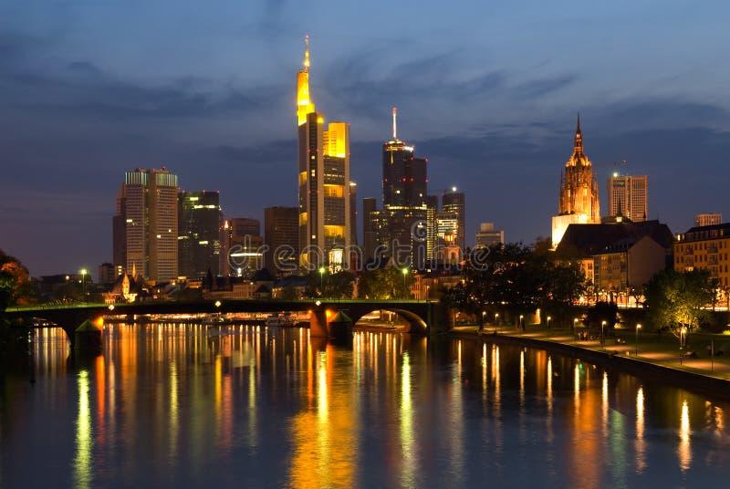 Francoforte Skyine immagine stock