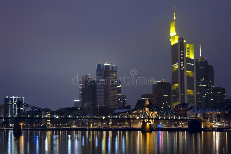Francoforte Skyine, Alemanha fotografia de stock