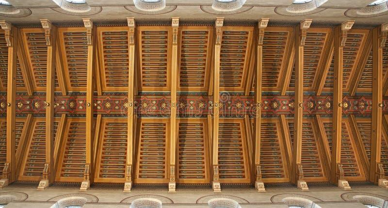francois巴黎屋顶圣徒木头xavier 免版税库存照片