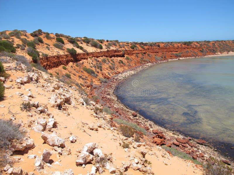 Francois Peron National Park, baía do tubarão, Austrália Ocidental fotografia de stock