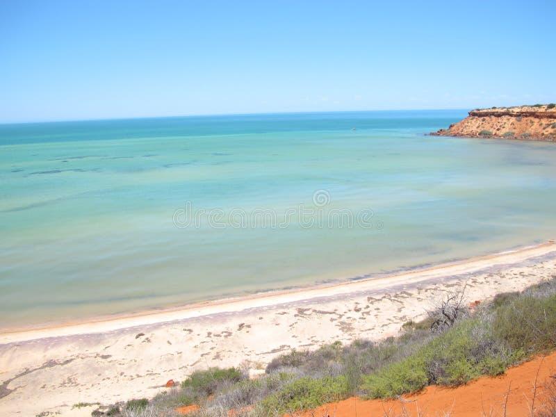 Francois Peron National Park, baía do tubarão, Austrália Ocidental imagens de stock