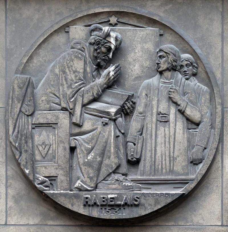 Francois Rabelais, escritor franc?s do renascimento, m?dico, humanista do renascimento, monge e erudito grego fotos de stock