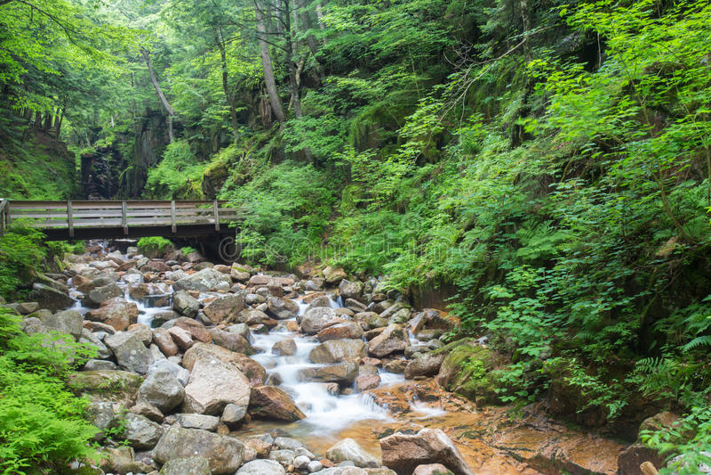 Franconia-Kerbe New Hampshire lizenzfreies stockfoto