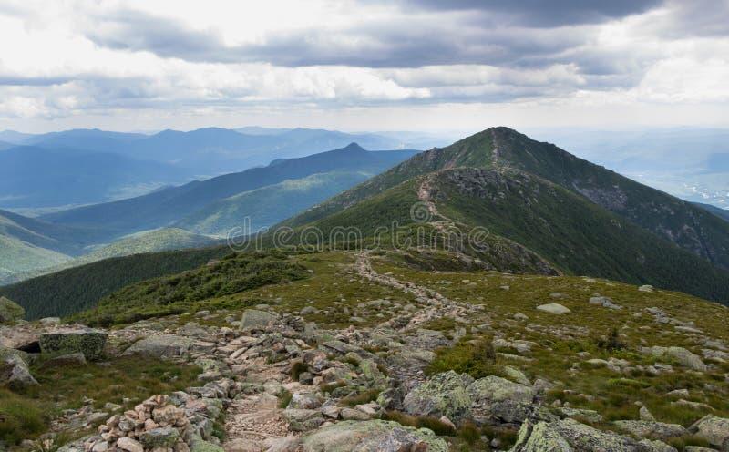 Franconia Ridge Trail dans New Hampshire photographie stock libre de droits