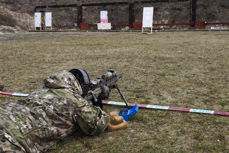 Francotirador militar imágenes de archivo libres de regalías