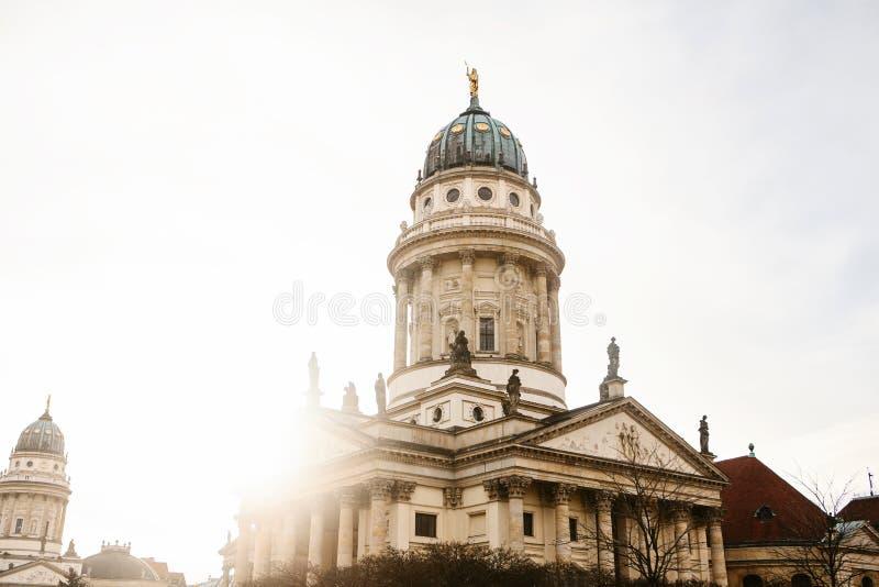 Francuscy katedry lub Franzoesischer Dom w Berlin, Niemcy Ewangelicki i Luterański kościół zdjęcie royalty free