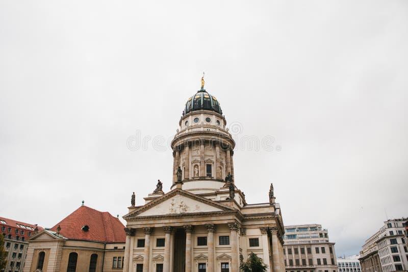 Francuscy katedry lub Franzoesischer Dom w Berlin, Niemcy Ewangelicki i Luterański kościół obrazy stock