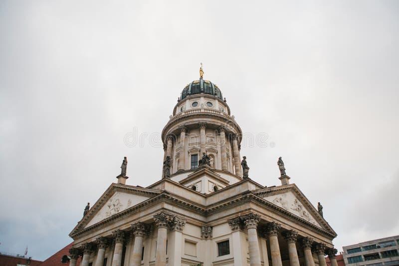 Francuscy katedry lub Franzoesischer Dom w Berlin, Niemcy Ewangelicki i Luterański kościół obraz stock