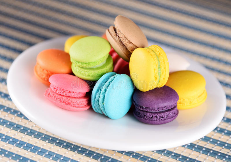Francuscy macaroons lub macaron zdjęcie royalty free