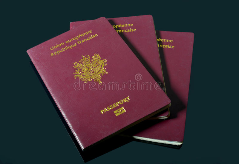 Francuscy paszporty obrazy stock