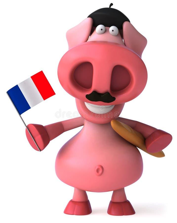 francuska świnia ilustracja wektor