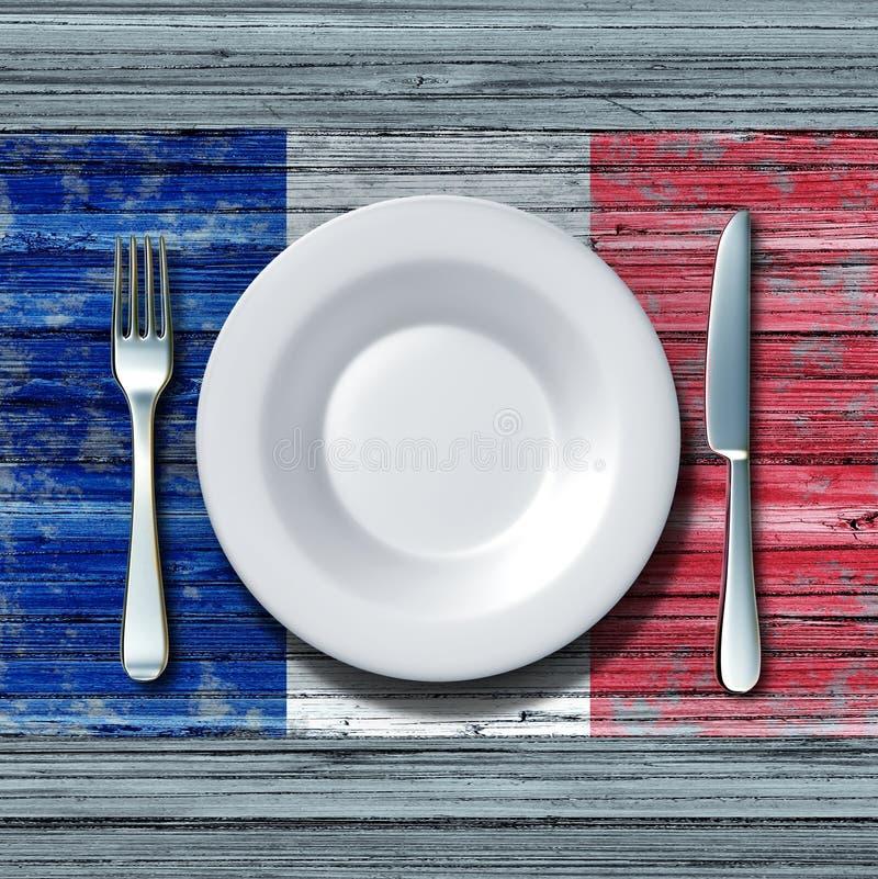 Francuska kuchnia royalty ilustracja