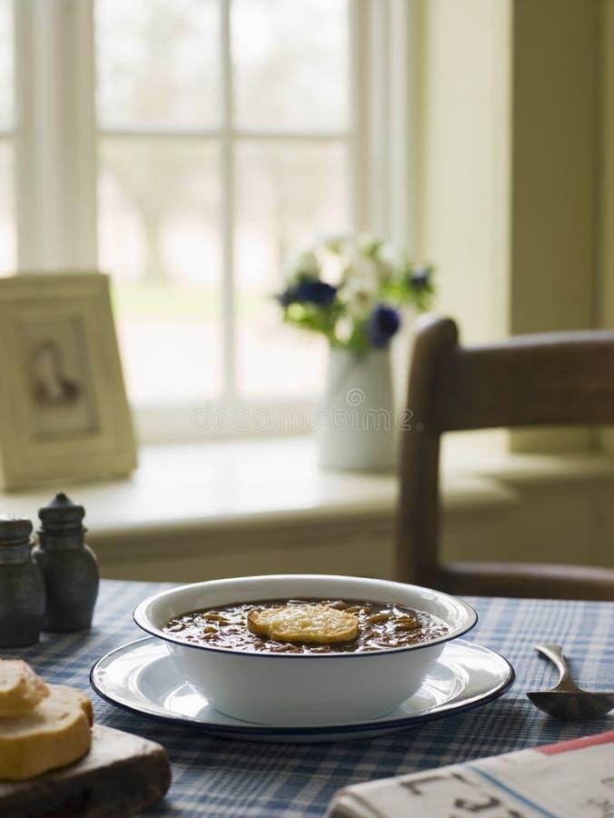 francuska miskę zupy cebulowe obrazy royalty free