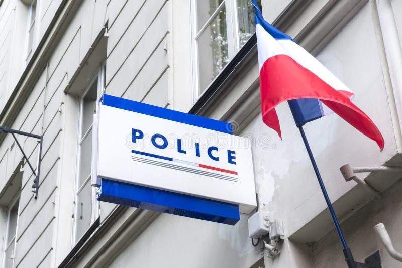 Francuska policja narodowa podpisuje fotografia stock