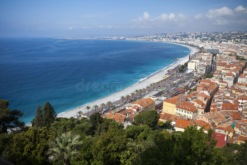 Francuska Riviera Francja Ładna plaża zdjęcie stock