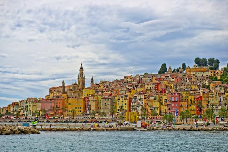 francuska Riviera menton obraz stock