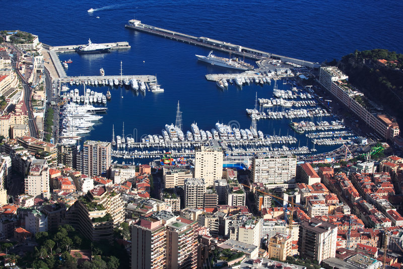 francuska Riviera schronienia Monako obraz royalty free