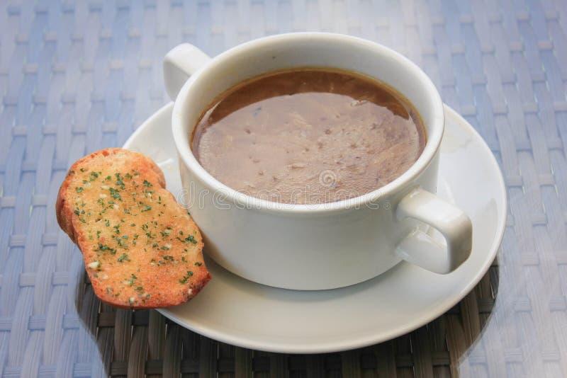 francuska zupa cebulowe zdjęcie royalty free