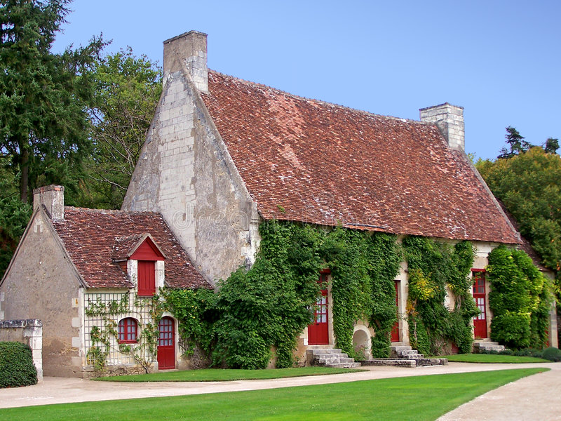 francuski dom kraju zdjęcia royalty free