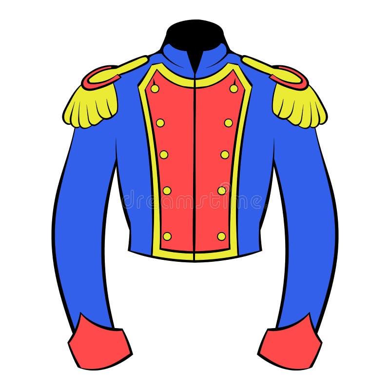 Francuski dziejowy mundur żołnierz ikony kreskówka royalty ilustracja