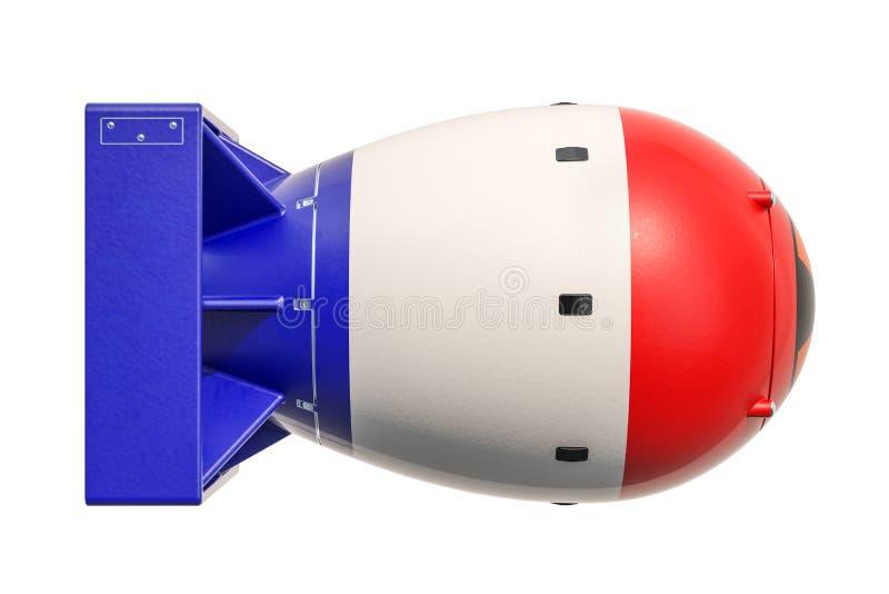 Francuski jądrowej broni pojęcie, 3D royalty ilustracja