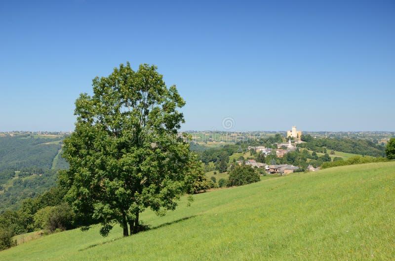 Francuski kraju krajobraz z Phoebus kasztelem obrazy stock