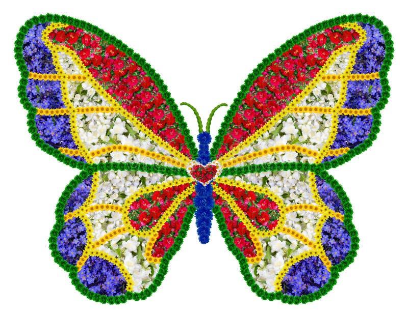 Francuski kwiecisty motyl jako pamięć symbol royalty ilustracja